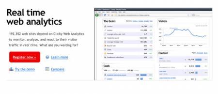 سایت Clicky ابزار آمارگیز بازدید وب سایت