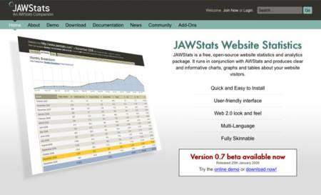 سایت JAWStats سرویس آنالیز وب سایت