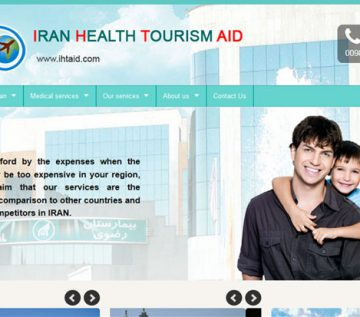 طراحی سایت iran health tourism aid