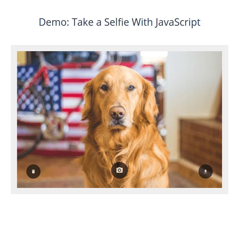 آموزش گرفتن عکس سلفی با جاوا اسکریپت